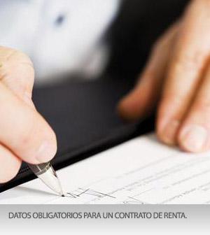 Datos obligatorios para un contrato de renta.
